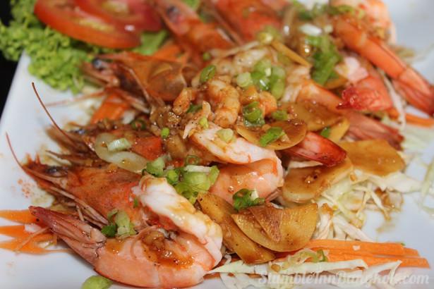 Steamed prawn & garlic